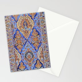 Stained Glass Periwinkle Oriental Rug Runner Stationery Cards
