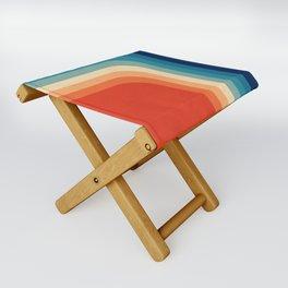 Retro 70s Color Palette III Folding Stool