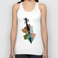 cello Tank Tops featuring Bach - Cello Suites by Prelude Posters
