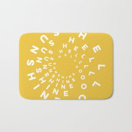 Hello Sunshine #minimal #typography #summervibes Bath Mat