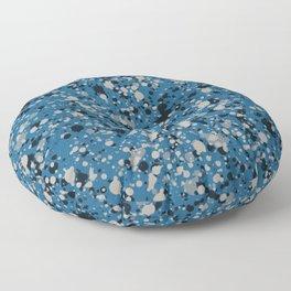 Speckles Blue Floor Pillow