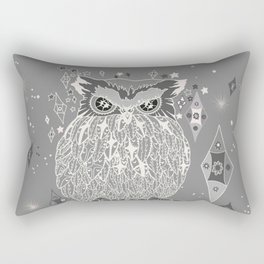 Silver night Rectangular Pillow