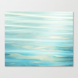Water Ripples Photography, Aqua Blue Ocean Abstract Art, Turquoise Sea, Seascape Canvas Print