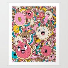 Donut Doodle Art Print