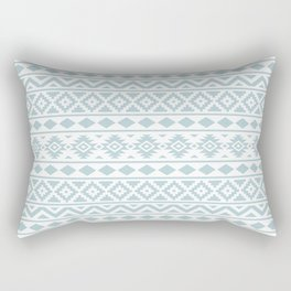Aztec Essence Ptn III Duck Egg Blue on White Rectangular Pillow