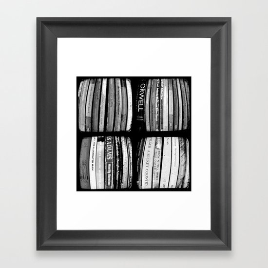 The Bookshelf - Through The Viewfinder (TTV) - Polyptych Framed Art Print