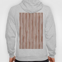 Cavern Clay SW 7701 Vertical Grunge Abstract Line Pattern on Pure White Hoody