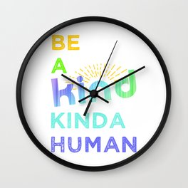 BE KIND | COLOUR Wall Clock