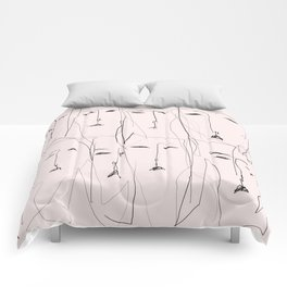 Resting faces Comforters