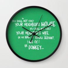 The Tenth Commandment Wall Clock