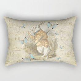 White Rabbit - Alice In Wonderland Rectangular Pillow