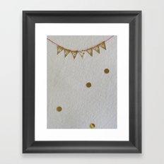 mini celebration Framed Art Print