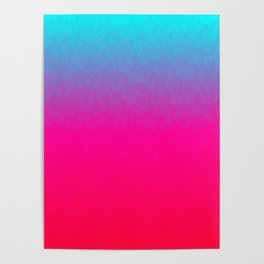 Blue purple and pink ombre flames Poster