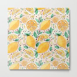 Lemon Squeeze Metal Print