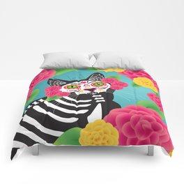 Gatos Dia de los Muertos Comforters