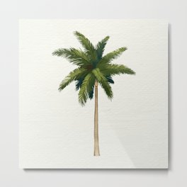Simple Palm Tree Metal Print