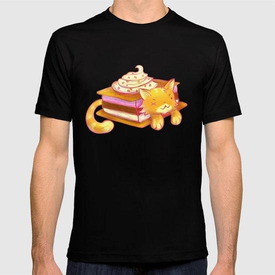Ice sandwich cat T-shirt