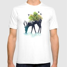 Watering (A Life Into Itself) White MEDIUM Mens Fitted Tee