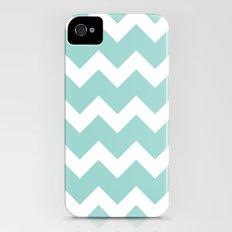 Chevron - Aqua Slim Case iPhone (4, 4s)