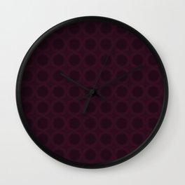 Dark Merlot Wine Circle Pattern Wall Clock