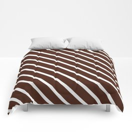 Cocoa Diagonal Stripes Comforters