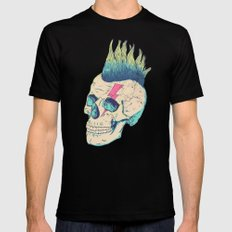 Skull Punk Black LARGE Mens Fitted Tee