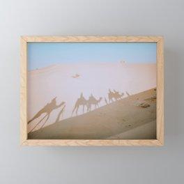 Desert Camels Framed Mini Art Print