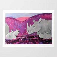 Field of Purple Art Print