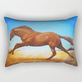 The Race Horse Rectangular Pillow