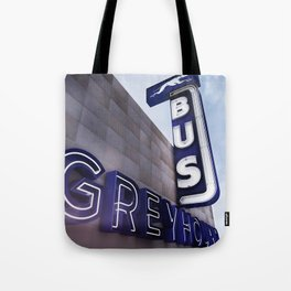GREYHOUND BUS STATION COLOR Tote Bag