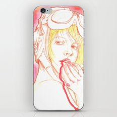 Aviator girl 002 iPhone & iPod Skin