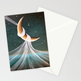 When The Wind Blows - Moon Swing Stationery Cards