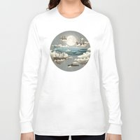 art Long Sleeve T-shirts featuring Ocean Meets Sky by Terry Fan