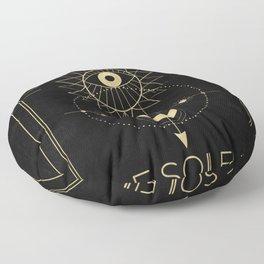 Le Soleil or The Sun Tarot Floor Pillow