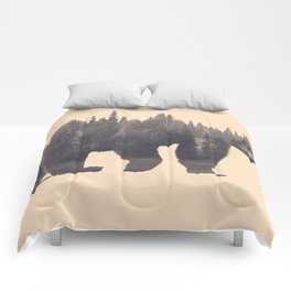 forest in the bear Comforters