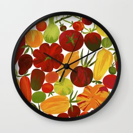 Whimsical Fruit Salad Wall Clock