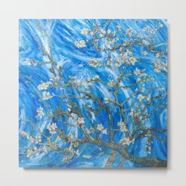 Vincent van Gogh Blossoming Almond Tree (Almond Blossoms) Windswept Metal Print