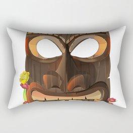 Tiki mask Rectangular Pillow