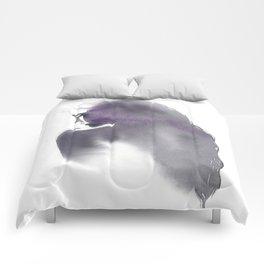 Dusk, Fashion Illustration in Watercolor Comforters