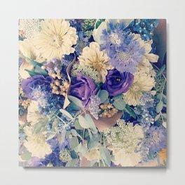 Blue Bouquet Metal Print