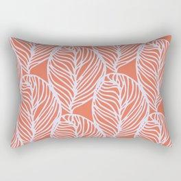 petaluma: orange leaf pattern Rectangular Pillow