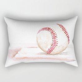 Baseball Watercolor Rectangular Pillow