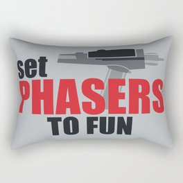 Set Phasers to Fun! Rectangular Pillow