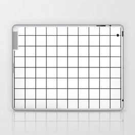 Grid Simple Line White Minimalist Laptop & iPad Skin