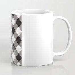 Gingham - Black Coffee Mug