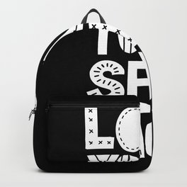 Love Yourself More black and white typography inspirational motivational home wall bedroom decor Backpack