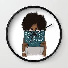 A Book Is A Dream That You Hold In Your Hand | African American Wall Clock
