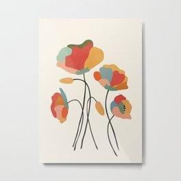 Colorful Flowers Metal Print