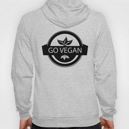 Monochrome Go Vegan Plant Design Hoody