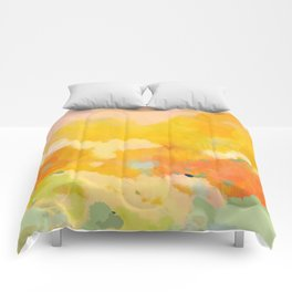abstract spring sun Comforters